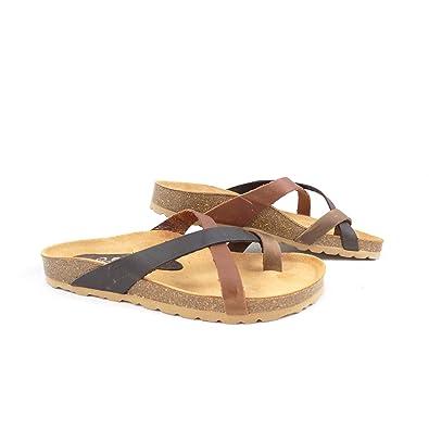 277fd2afc Yokono Mabul 005 Toe Post Sandal EU 40   UK 7 Dark Brown  Amazon.co.uk   Shoes   Bags