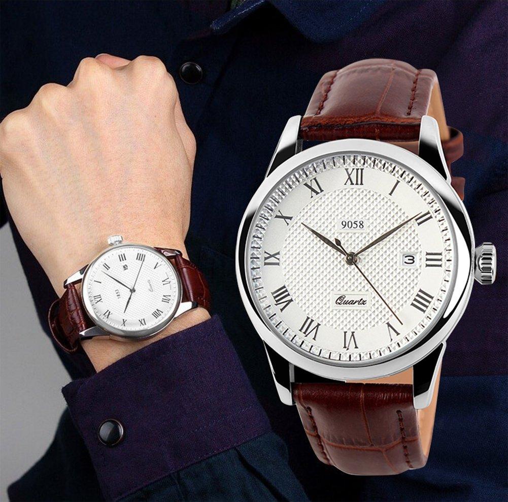 mens analog quartz wrist watch classic casual watch with