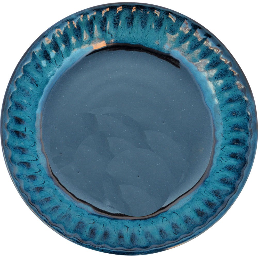Fluted Pie Pan in Garcia Green glaze