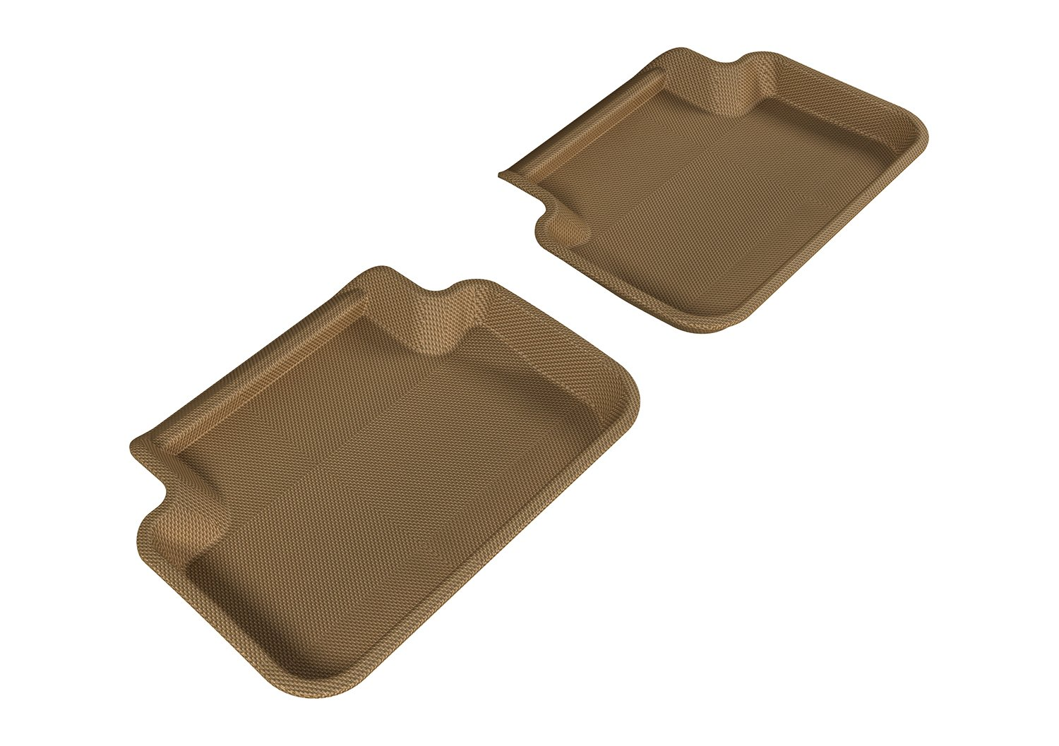 3D MAXpider Second Row Custom Fit All-Weather Floor Mat for Select Audi A4//S4//RS4 Models Tan Kagu Rubber L1AD02721502