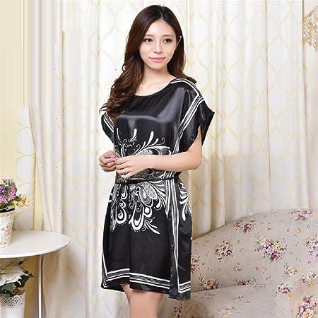GL G Sleeping skirt thin section large size sexy nightgown female Half sleeve  girl sleep dress ice 2f00cae67
