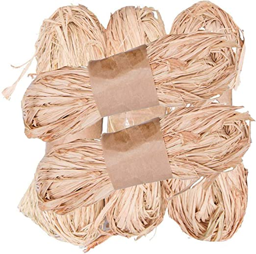 Paquete de 5 paquetes de rafia natural de 50 g para decoraci/ón de jardines 250 g Lawei
