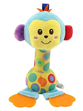 Happy Monkey - Sonajero Babi Mordedor Juguete Infantil Muñeca ...