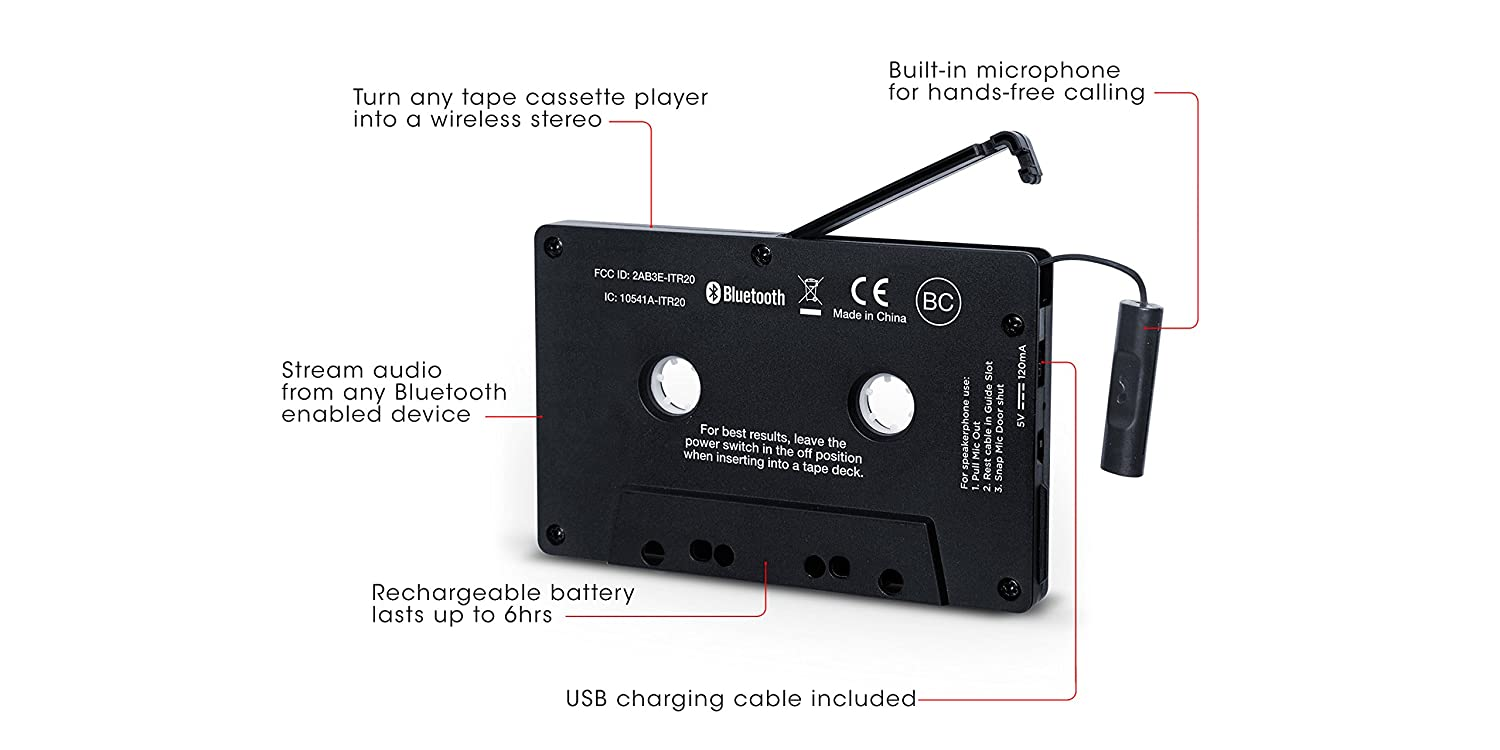 nuovo ion audio cassette adapter bluetoothricevitore. Black Bedroom Furniture Sets. Home Design Ideas