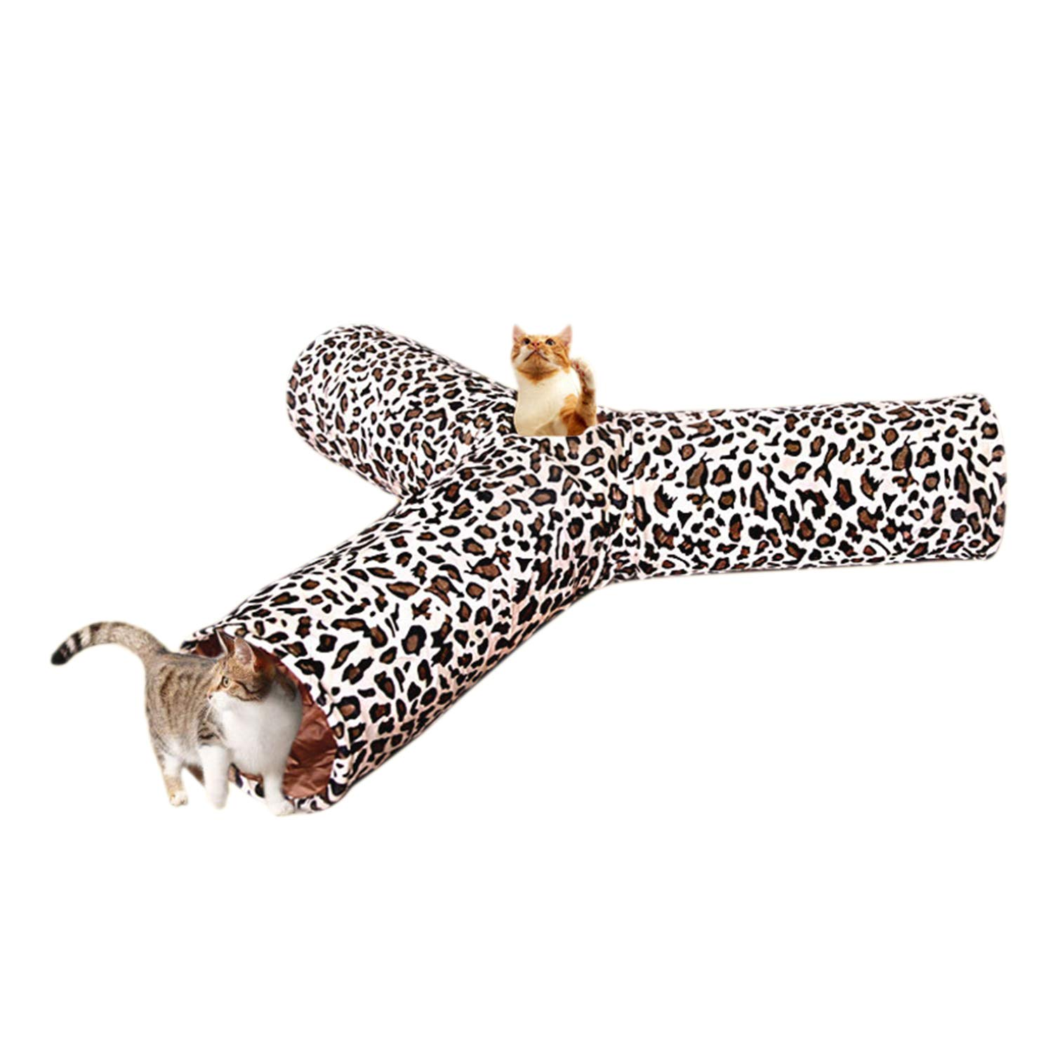 CLAIQY Cat Tunnel Toy,Cat Toy Can Be Spliced and Folded Cat Channel for Cats Kitten Rabbit,B