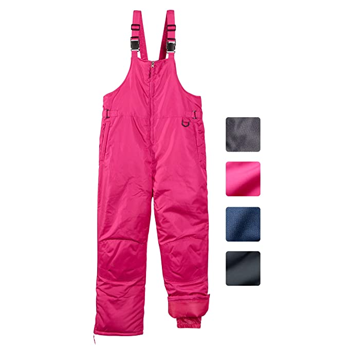 CHEROKEE Boys & Girls Insulated Snow Bib Ski Pants (Toddler, Little and Big Kids)