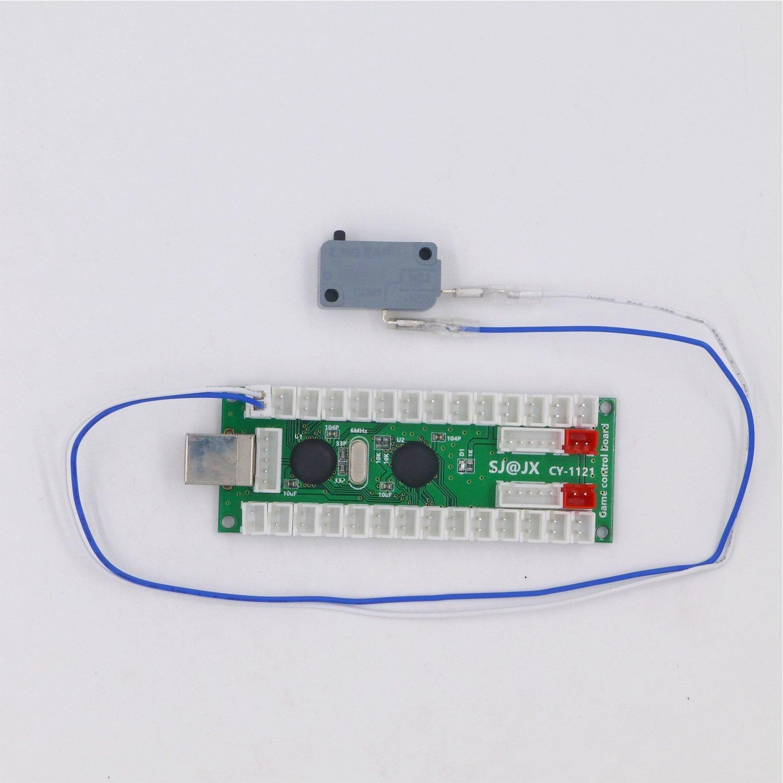 SJJX 2 Players Arcade Game DIY Kit USB Encoder Controller Button