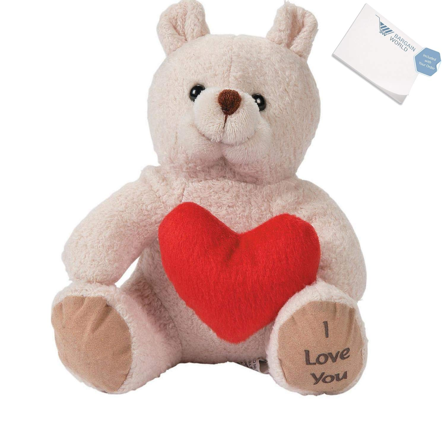 Valentine Stuffed Bears With Hearts (With Sticky Notes)