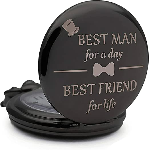 Amazon Com Best Man Gifts For Wedding Groomsmen Gifts Engraved Best Man Pocket Watch For Best Man Wedding Gift Watches