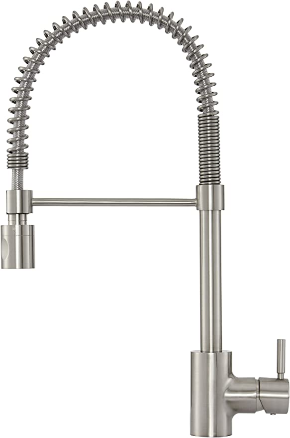 Danze DH451188SS The Foodie Single Handle Pre-Rinse Kitchen Faucet, 1.75  GPM, Satinless Steel, Stainless