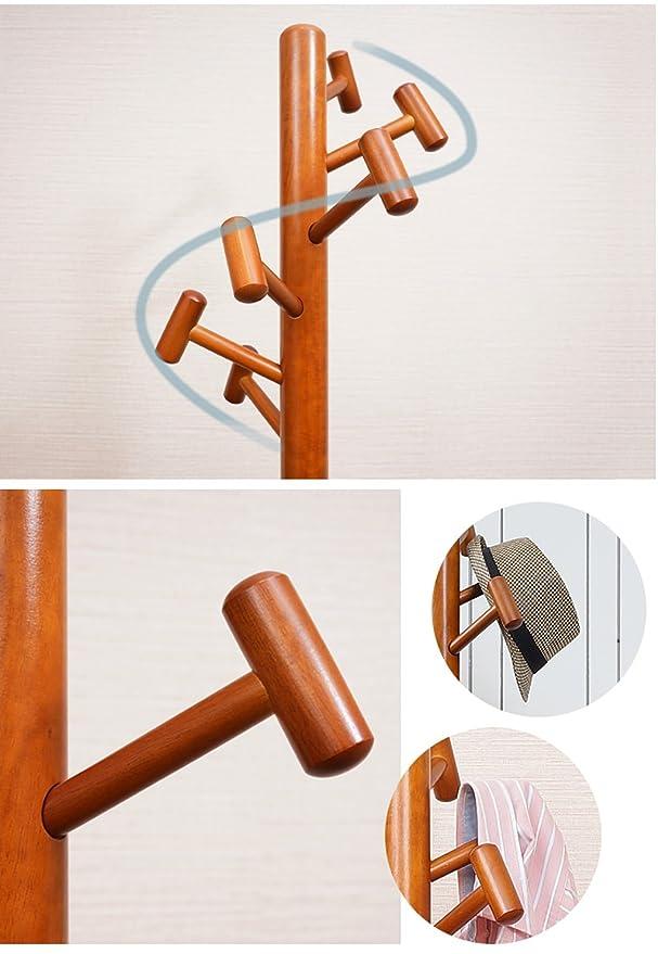 Amazon.com: coat rack Solid Wooden Coat Rack Bedroom Simple ...