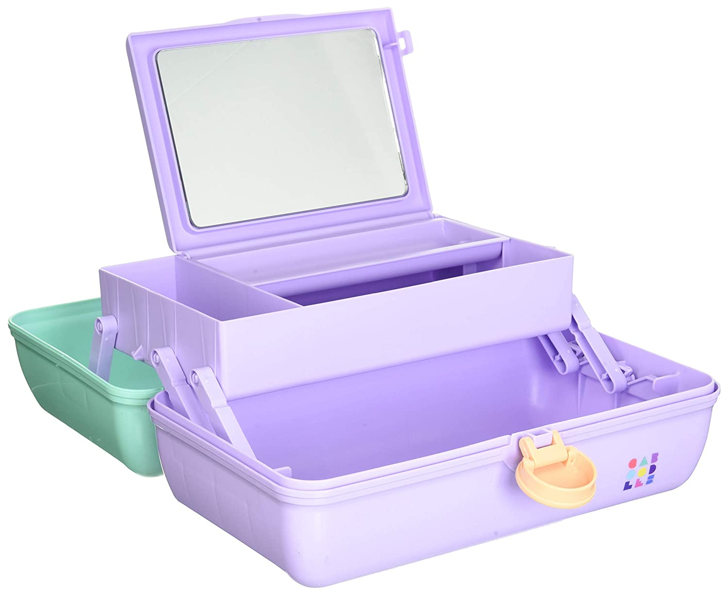 Caboodles On-The-Go Girl Sea foam Lid & Lavender Base Vintage Case, 1 Lb: Beauty