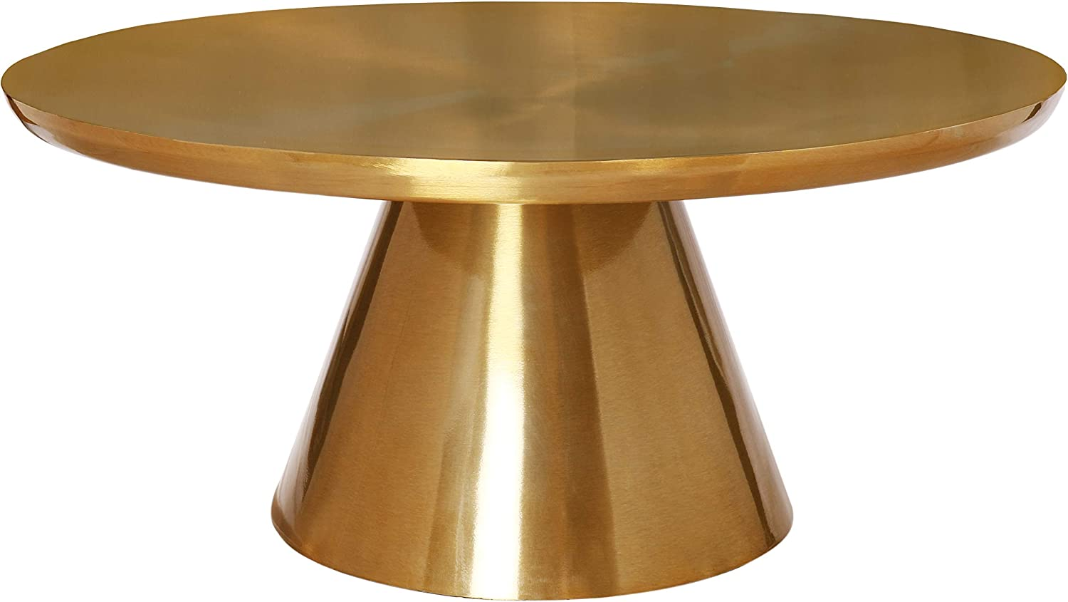 Meridian Furniture Martini Collection Modern   Contemporary Coffee Metal Table Top, 36
