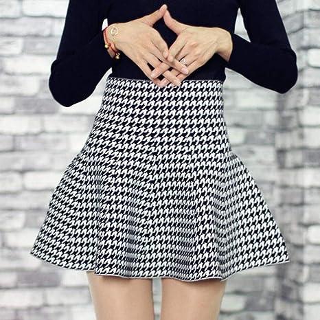 HEHEAB Falda Dividida Split Falda Falda Versión Coreana De Mujeres ...