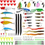 Apusale Fishing Lures Kit Bass Baits Tackle-Including Crankbaits, Spinnerbaits, Plastic Worms, Jigs, Topwater Lures…