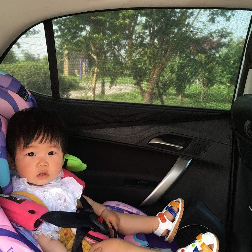 Baiyouli Universal Car Sun Shade Car Window Shades Covers Side Side Windows Protecci/ón UV 2-Pack