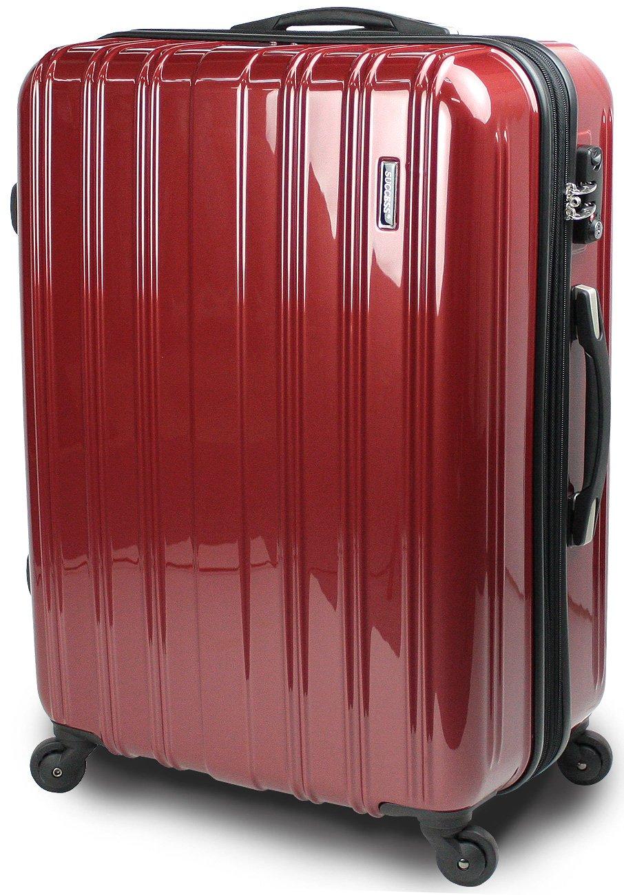 【SUCCESS サクセス】 スーツケース 3サイズ( 大型  ジャスト型  中型 ) TSAロック 搭載 超軽量 レグノライト2020~ ミラー加工 キャリーバッグ B00BE1A6BW 大型 74㎝|ヴェネシアンレッド ヴェネシアンレッド 大型 74㎝