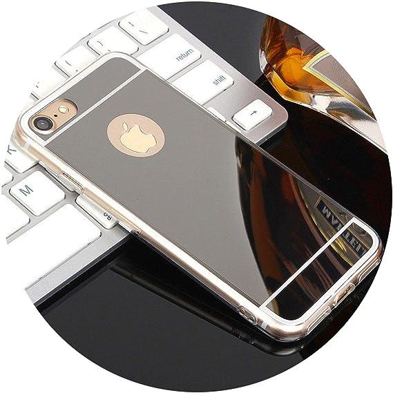 Amazon.com  Luxury Mirror Phone Case for iPhone 7 6 6S Plus 5 5S SE ... 90e90fec4b