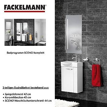 Fackelmann Vadea Waschbeckenunterschrank Badmöbel Weiß Türanschlag