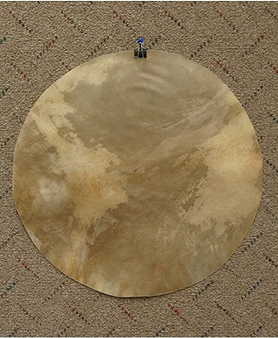 Tambor de piel de cabra Cabeza con pelo 18///Djembe tambor de piel de pelo natural//pieles de cabra