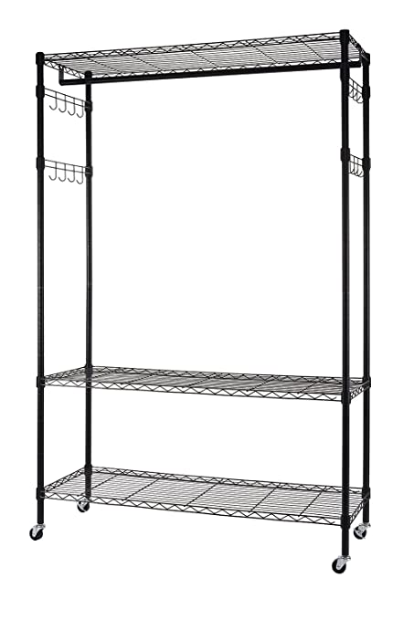 amazon com finnhomy heavy duty wire shelving garment rack with