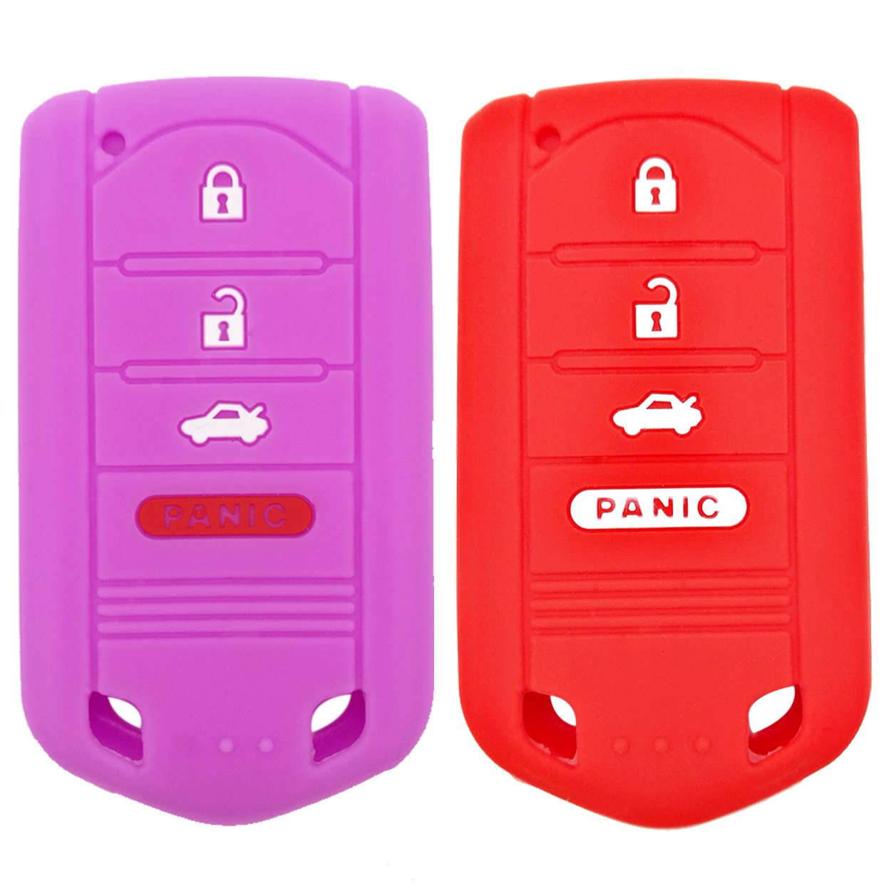 Coolbestda 2Pcs Key Fob Cover Case Protector Remote Control Skin for Acura MDX TL TLX ZDX RDX TSX RL ZD IL M3N5WY8145 Not fit ENGINE HOLD FOB