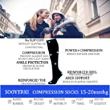 Compression Socks for Women & Men 15-20 mmHg is