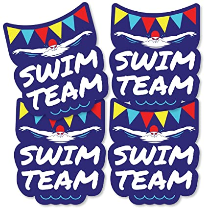 816bc4ddbd8 Image Unavailable. Image not available for. Color: Making Waves - Swim Team  - Decorations DIY Swimming Party ...