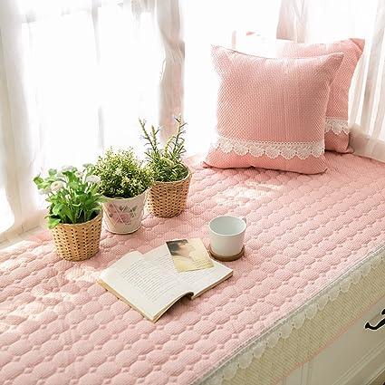 Amazon.com: Simple non-slip bay window cushion blanket bench mat ...