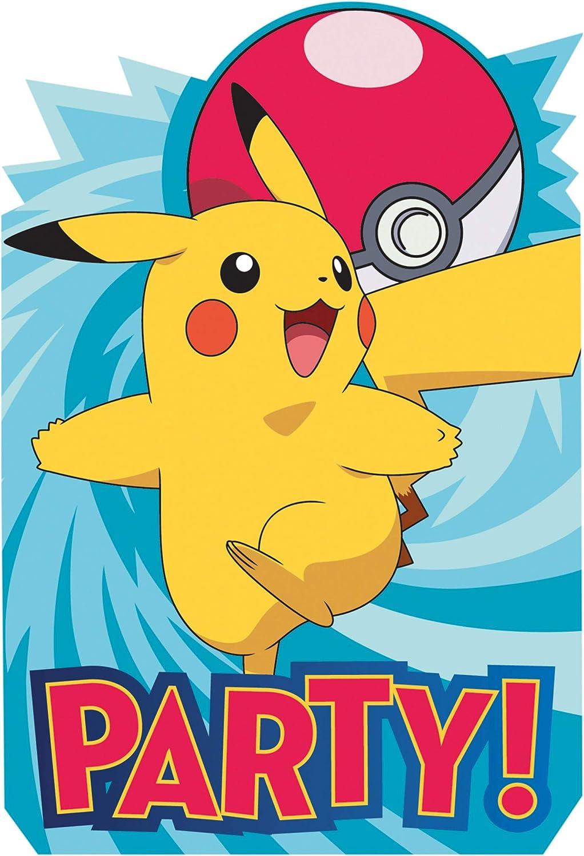 Pokemon Postcard Invitations 8 Per Pack