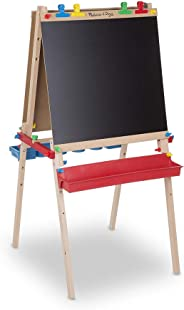 Melissa & Doug Deluxe Wooden Standing Art Easel (Arts & Crafts, Easy to Assemble, 47