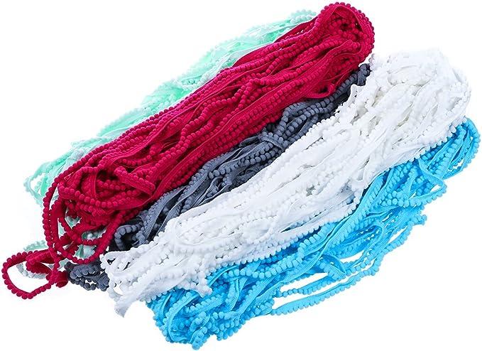Multicolor Ribbon  Tassel Fringes Trim Decorative Supply Woolen Thread Lace Accessories 9 Yards Wide 3.2 cm