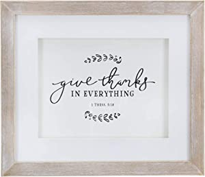Christian at Gifts Wall Art Home Décor | Give Thanks – 1 Thessalonians Bible Verse Inspirational Wall Plaque | Give Thanks Collection Modern Farmhouse Wall Art