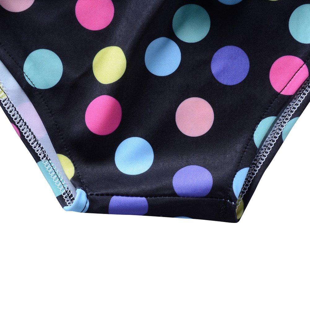 Bechic Girls One Piece Ruffle Bathing Swimsuit Lovely Print Butterfly Swimwear Adjustable Beachwear 2Y-9Y