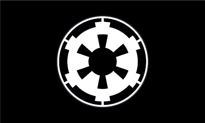 Star Wars Bandera | Imperio Galáctico Negro Paisaje | de la bandera 3 x 5 ft/| 90 x 150 cm bandera de larga duración: Amazon.es: Jardín