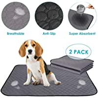 Washable Pee Pad for Dogs, Super Fast Absorbent Reusable Waterproof Comfortable Unscented Puppy Cats Potty Puppies Whelping Mat for Travel Daily use (2PACK-50 * 70CM)