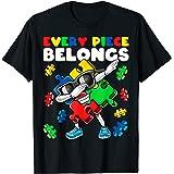 Every Piece Belongs Autism Awareness Dabbing Puzzle Gift T-Shirt