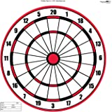 "Dart Board Target Pack of 50 - 23"" X 35"""