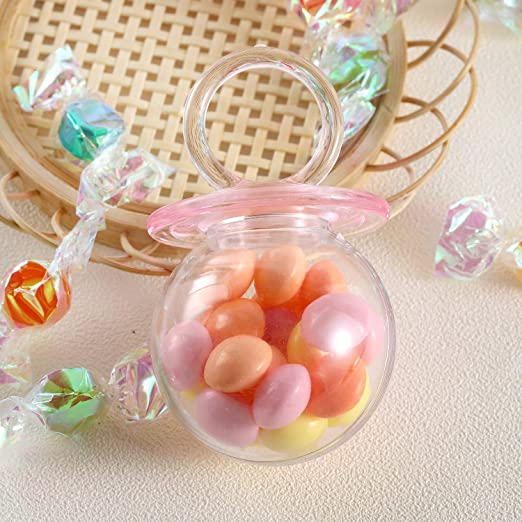 Crystal Clear Pink Pacifier Girl Baby Shower Wedding Bday Party Favor Gift