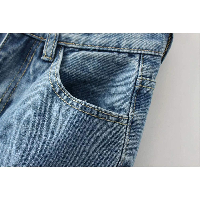 Tassel Harem Pants High Waist Jeans Vintage Denim Ankle-Length Fashion Trousers,Light Blue,25