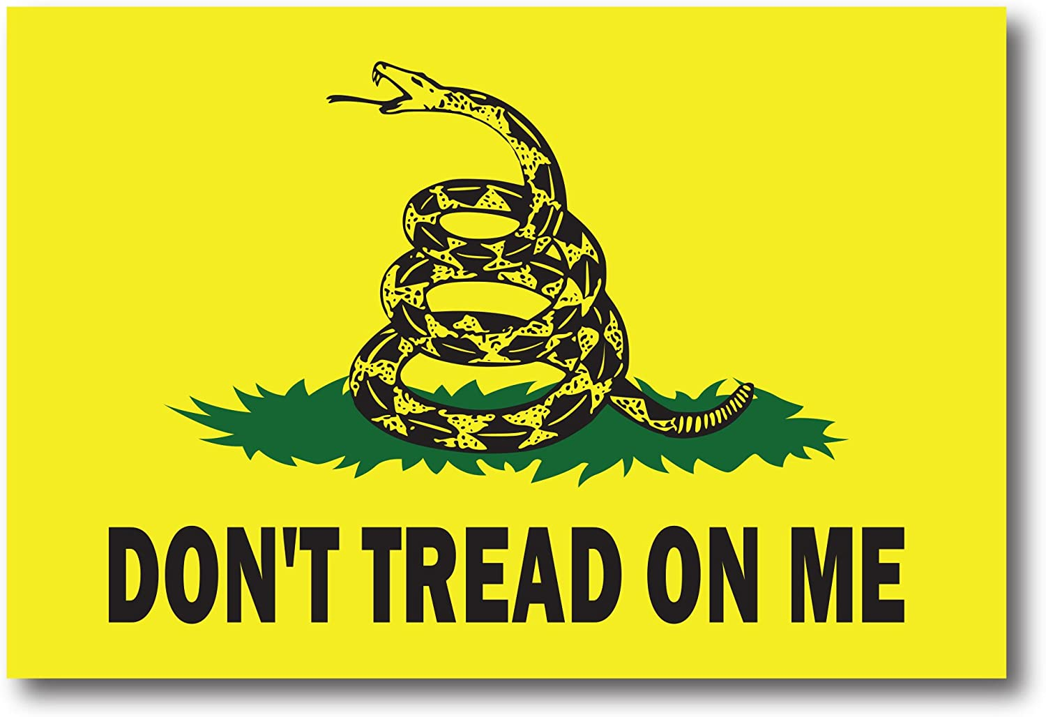 "Amazon.com: Don't Tread on Me Gadsden Flag 4""x6"" Car Magnet Decal - Heavy  Duty for Car Truck SUV: Automotive"