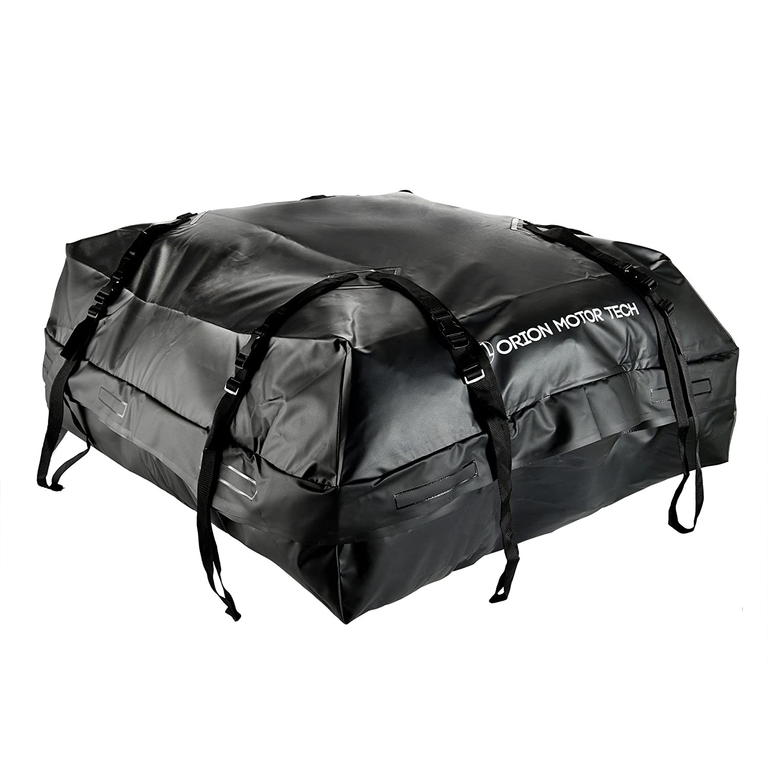 OrionMotorTech 15 Cubic Feet Waterproof Car Rooftop Cargo Carrier Storage Bag, Fit Any Car/Van/SUVs with Roof Rails, Easy to Install with Durable Wide Straps