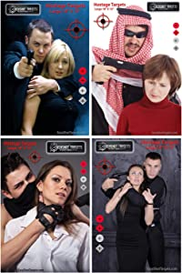 """40-Pack - 18"""" X 12"""" Hostage Targets for Shooting Featuring Photo-Realistic Designs 