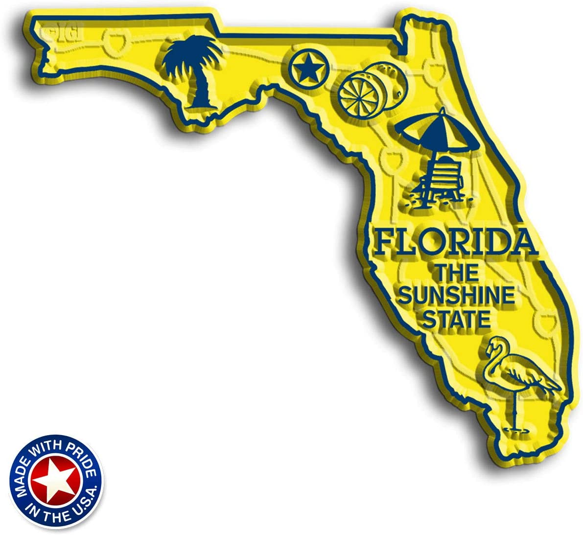 Florida State Map Magnet by Classic Magnets
