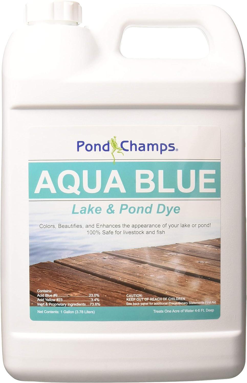 Pond Champs 11400 Aqua Blue Pond Dye, Turquoise