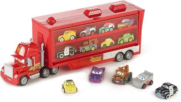 Disney Cars - Mini Racers, Mack Camión Transportador Con 5 Coches de Juguete Para Niños +4 Años (Mattel FRP09): Amazon.es: Juguetes y juegos