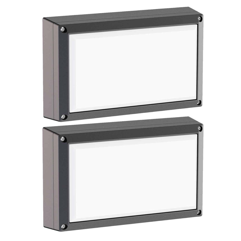 inkl schwarz Rundleuchte Tabit wei GX53 LED Leuchtmittel Aluminium Outdoor