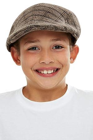 Smiffys 50749 - Gorra plana para niños, unisex, color marrón y ...