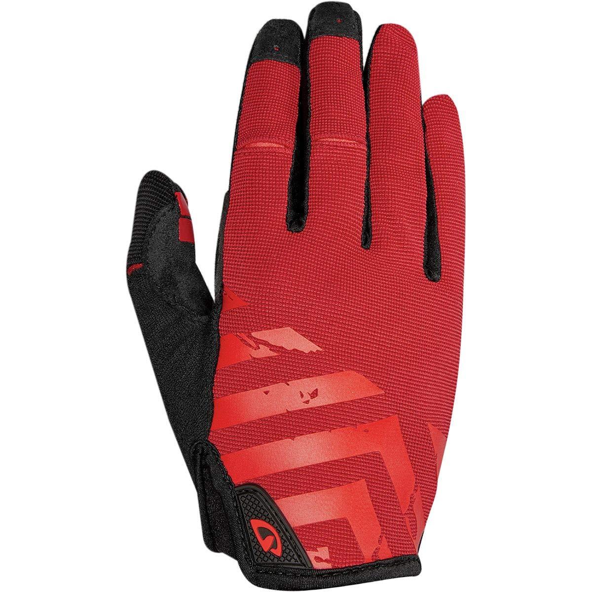 Giro DND Bike Glove - Men's Dark Red/Bright Red Small
