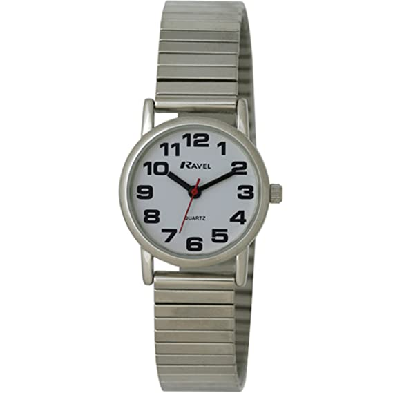 Ravel R0208.02.2S - Reloj de Cuarzo para Mujer, Correa de Acero Inoxidable Color Plateado